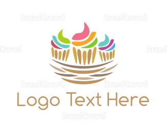 Bakeshop - Cupcake Nest logo design