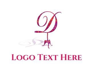 Boutique - Floral D logo design