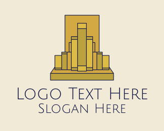 Urban Planner - Gold Buildings Skyline  logo design