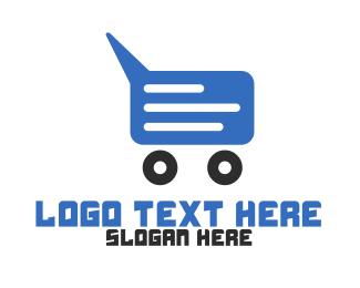 Purchase - Chat Shopping Cart logo design