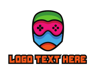 Gas Mask - Colorful Gamer Mummy logo design