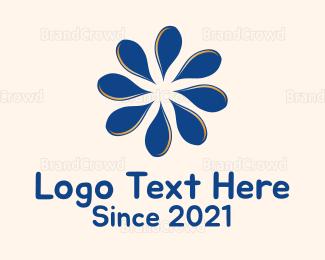 Aged Care - Blue Petals logo design