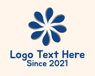 Drop - Blue Petals logo design