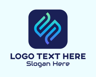 Dj Party - Letter S Streaming App logo design