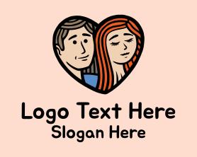 Date - Man Woman Heart logo design