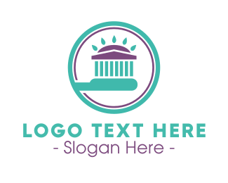 Toothpaste - Dental Pantheon Toothbrush logo design
