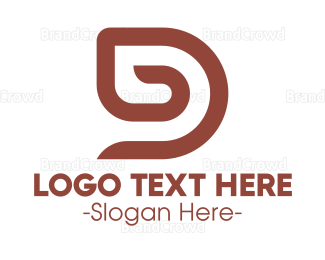 Cacao - Minimalist Brown D logo design