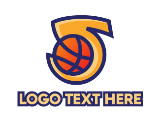 Play Off - Basketball Number 5 logo design
