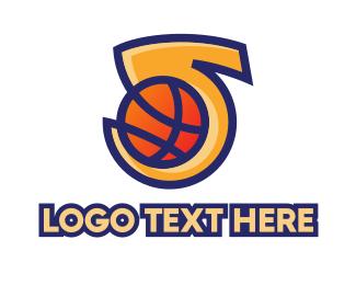 Mvp - Basketball Number 5 logo design