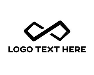 Minimal - Black Infinity logo design
