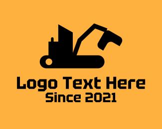 Dig - Heavy Excavator Machine logo design