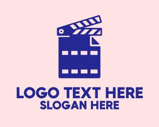 File - Movie File Clapperboard logo design