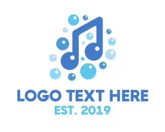 Hygiene - Music Note Bubbles logo design