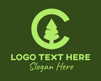 """""""Pine Tree Letter C"""" by MusiqueDesign"""