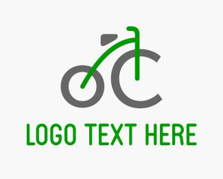 Bicycle - Green Bicycle logo design