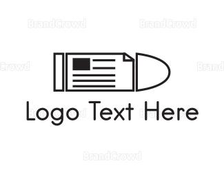 Writer - Bullet News logo design