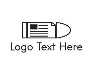 Pr - Bullet News logo design