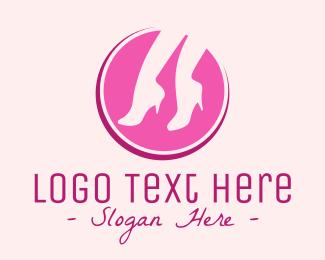 Retail Store - Pink Stilettos logo design