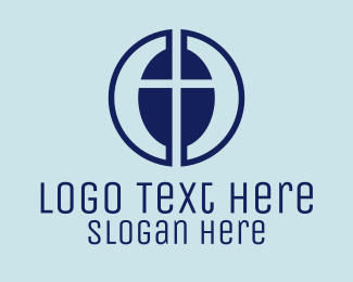 Catholic - Modern Catholic Cross logo design