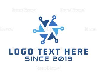 Cameraman - Blue Tech Shutter logo design