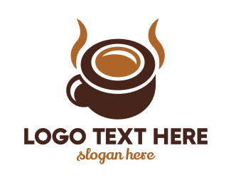 Brown - Brown Coffee Horns logo design
