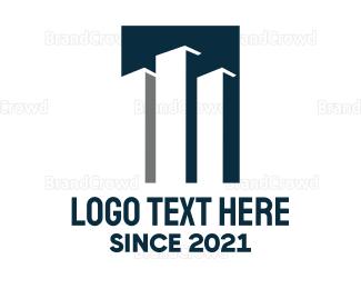 Business Center - Blue Tower Company logo design