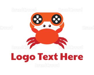 Crustacean - Gaming Crab logo design