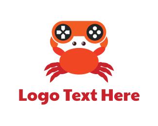 Crab - Gaming Controller Crab logo design