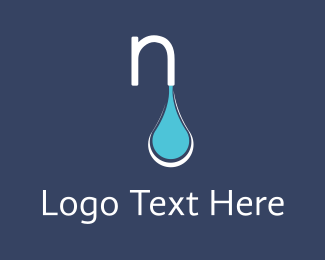 Water Drop - N Water logo design