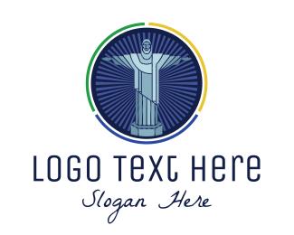 Sculptor - Brazil Christ Statue logo design