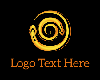 Photo - Yellow Snake Swirl logo design