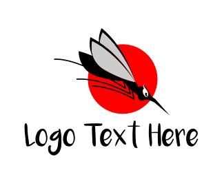 Pest - Black Mosquito logo design