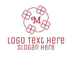 Bouquet - Girly Flower Lettermark logo design