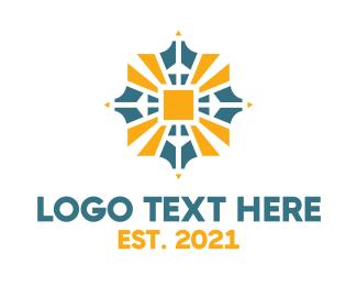 Pendant - Sun Emblem  logo design