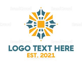 Sun - Sun Emblem  logo design