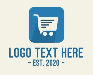 Online Delivery - Shopping Delivery Cart App logo design