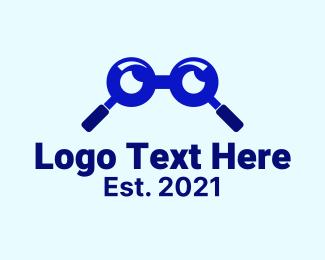 Glasses - Glasses Magnifying Glass logo design