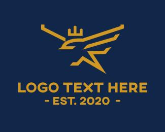 Bird - Golden Royal Bird logo design