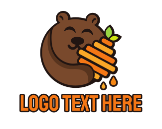 Brown Bear - Honey Bear logo design