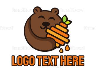 Teddy - Honey Bear logo design