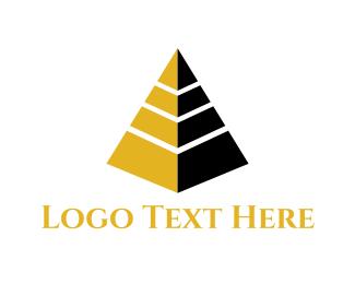 Egyptian - Golden Pyramid  logo design