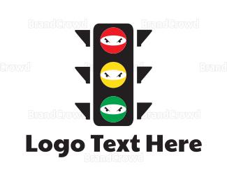 Fighting - Traffic Ninja logo design