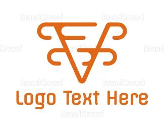 Modern - Modern Orange V logo design