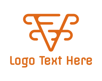 Orange Orange - Modern Orange V logo design