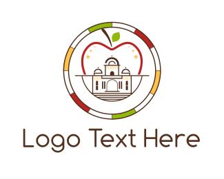 Capitol - Apple Palace logo design