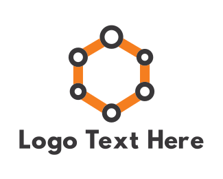 Supply Chain - Hive Link logo design