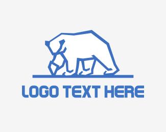 Alps - Iceberg Bear logo design