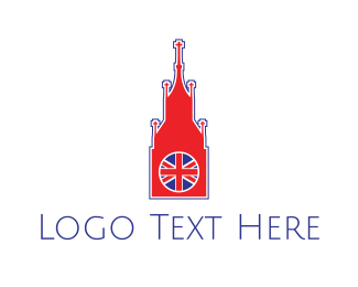 England - Big Ben London logo design