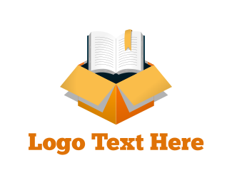 Learn - Book Box logo design