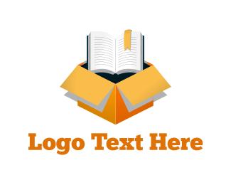 Crate - Book Box logo design